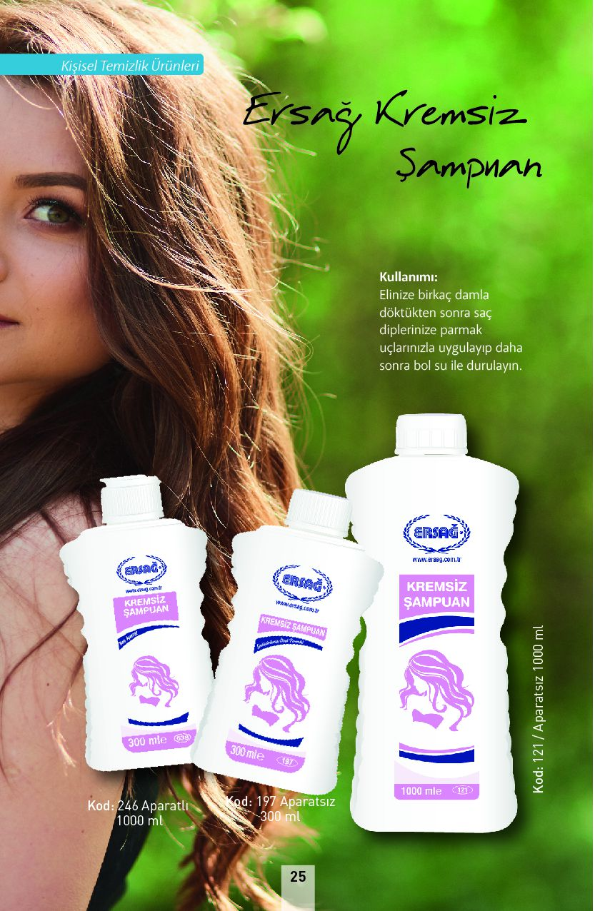 Ersağ Kremsizi Şampuan