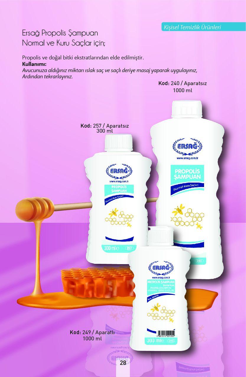 Ersağ Propolisli Şampuan Normal Kuru Saçlar İçin
